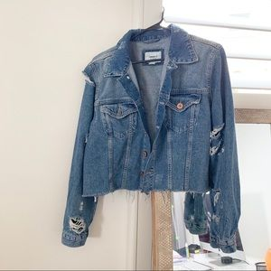 FOREVER21 Cropped Jean Jacket (New without tags)